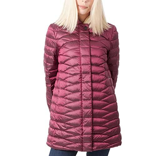 Geox W Jaysen Coat Capa de Pluma, Dark Berries, 46 para Mujer