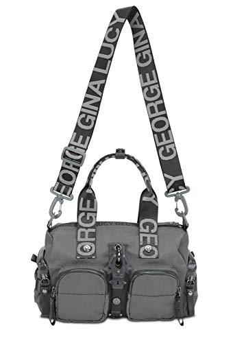 George Gina & Lucy Schultertasche ZOOMY mit GGL Logo Tragehenkel grey 971