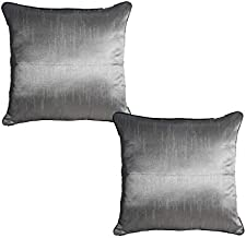 k.s.craft silver cushion cover set of 2 pcs 40x40 cm