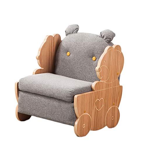 LIUYONGJUN Sillones Infantiles De Espuma,Interiores Dibujos Animados Niña Y Niño Extraíble Sofa Infantil Gris Verde Rosa Amarillo (Color : Gray)