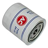 Inline Tube Compatible with 1967-77 GM Pontiac GTO Lemans Firebird PF-24 Oil Filter White with AC Logo OEM (F-2-11)