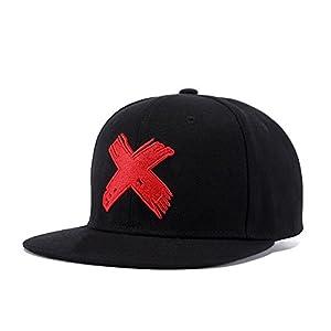 Quanhaigou Unisex Snapback, Adjustable Big X Anime Dad Hat Flat Bill Baseball Cap