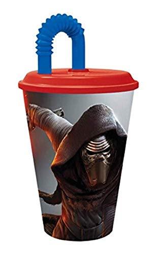 p:os 25623 Disney Star Wars Trinkbecher mit Strohhalm, ca. 430 ml