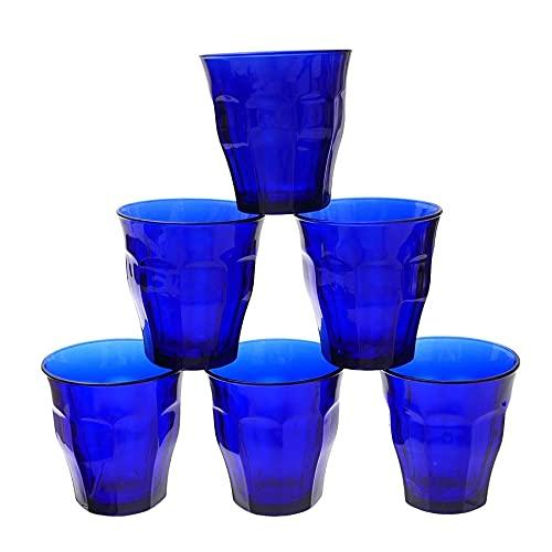 Duralex Picardie Panaché 1027FB06A1111 - Juego de 6 vasos (250 ml), color azul