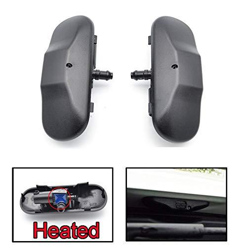 Pair Front Windshield Washer Nozzles Jet Heated Set For Audi A1 8X A4 B8 Q3 Q5 Q7 4L TT 2011 2012 2013 2014