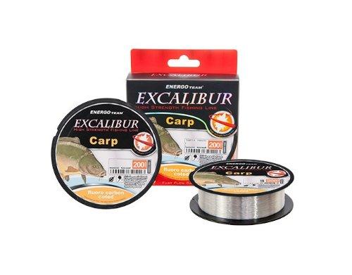 Energo Team Excalibur Fluoro Carbon Coated 200m 0,35mm Monofile Schnur Mono Schnur Angelschnur Karpfenschnur Fluorocarbon