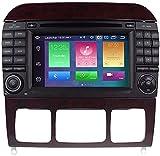 SONGYU Radio de Coche estéreo para Mercedes Benz Clase S W220 W215 S280 S320 S350 S500 Navegación GPS Reproductor de Radio automático Receptor Doble DIN en el Tablero 4 + 32g