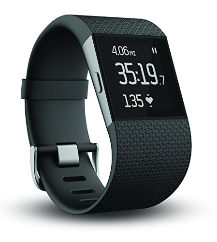 Fitbit Surge Fitness Superwatch, Black, Small (US Version) (Certified Refurbished)