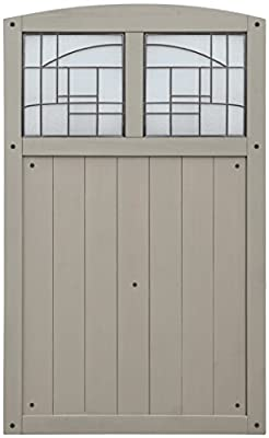 """Yardistry YP11820 Gate with Faux Glass Inserts, 42"""" x 68"""", Amber"""