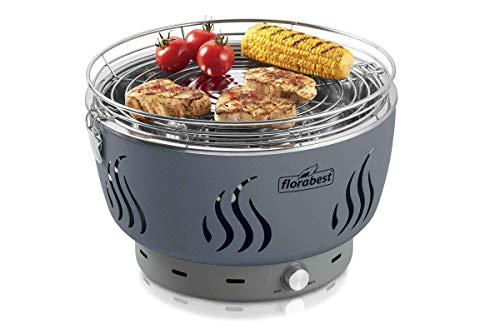 Florabest FLG 34 C1 Barbecue à charbon de bois Idéal pour balcon, terrasse Gris