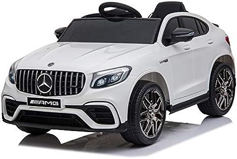 ATAA Mercedes GLC Coupé - con Licencia Mercedes -Blanco - Coche eléctrico para niños de batería 12v con Mando Control Remoto