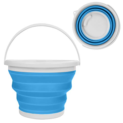Cubo de Agua Plegable - 10litros Azul Cubo de Plegable en Plástico...