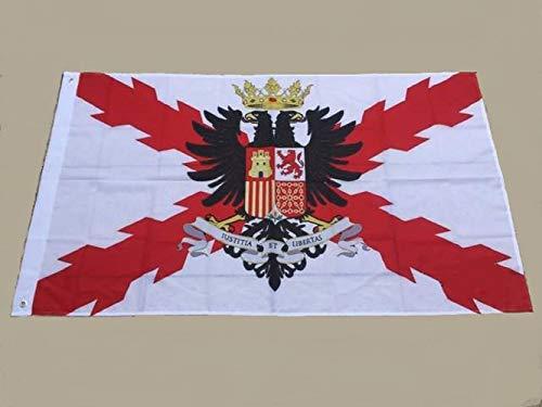 a-more.es Bandera Decorativa Tercios españoles - Imperio español - con Escudo - 150 x 90 cm.