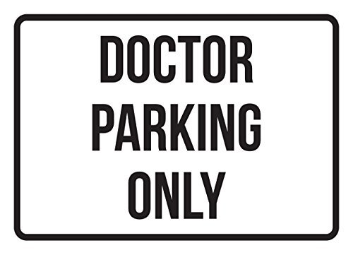 PeteGray Doctor Parking Only Aluminum Metal Signs Vintage Traffic Commercial Safety Warning Metal Tin Signs Novelty Outdoor
