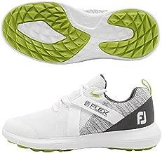 FootJoy Men's Flex Golf Shoes White 8.5 M Grey, US