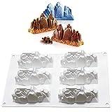 DUBENS Neue EIS Cliff Schnee Berg Geformt Silikon Mousse Mold DIY Dessert Fondant Mousse Schokolade Mould Kuchen Dekorieren Werkzeug Backformen (Berg)