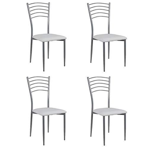 Noorsk Design Lote de 4 sillas de Cocina París
