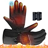 HONGXIAN Heated Gloves for Men Heated Cycling Gloves for Women Electric Heated Motorcycle Gloves Winter Gloves Fishing Gloves Waterproof Heated Gloves for Outdoor Sports
