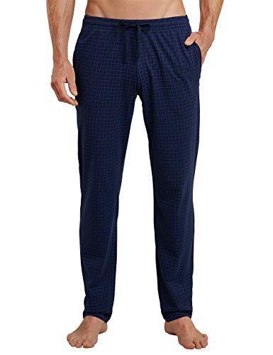 Schiesser Herren Mix & Relax Hose Lang Schlafanzughose, Blau (Dunkelblau-Gem. 835), X-Large (Herstellergröße: 054)