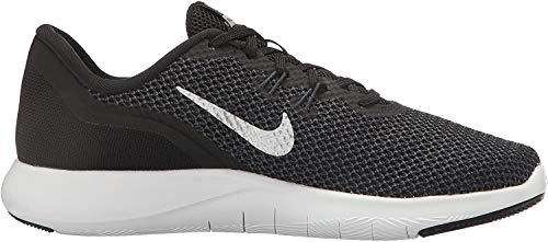 Nike Women's Flex Trainer 7 Cross, Black/Metallic Silver - Anthracite - White, 8 B(M) US