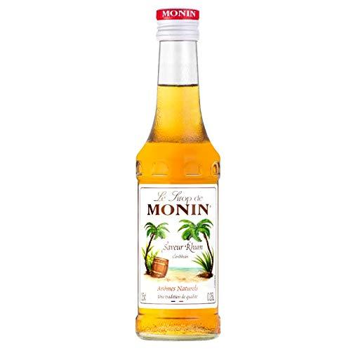 MONIN - Sirop Saveur Rhum pour Cocktail Sans Alcool, Mojito et Pina-Colada - Arômes Naturels - 25cl