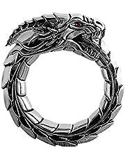 757 Anello Anelli Ring Regolabile da Uomo Unisex Forma Drago Cinese Elegante Gioiello Regalo Argento