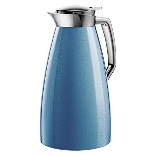 Emsa F4140400 Plaza Isolierkanne, 1 Liter, blau