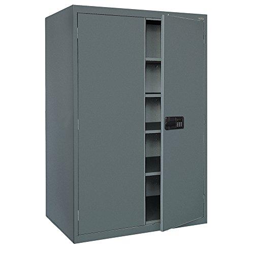 Sandusky Lee EA4E462472-02 Elite Series Keyless Electronic Welded Storage Cabinet 46 Width x 24 Length x 72 Height Charcoal