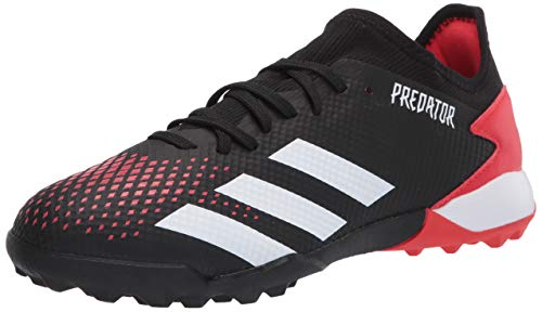 adidas Men's Predator 20.3 Turf Soccer Shoe, Core Black/White/Active Red, 13