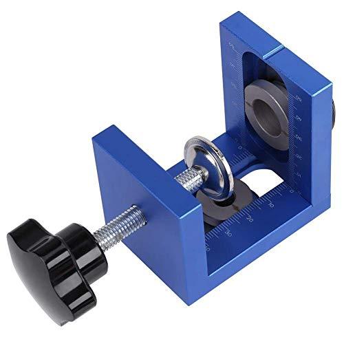 Yadianna Dowel Jig Kit Drilling Guide Drill Bit Set Pocket Hole Jig Woodworking Positioner for Drilling Holes, Carpenters Woodwork Guides