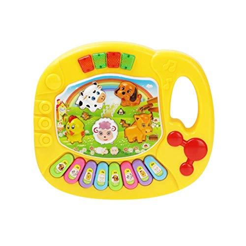 Detazhi 1 stück Vorschule Lernen landetiere Tiere Muster Piano keeboard Bildung Instrument Musik Spielzeug Piano Spielzeug für Kleinkinder Kinder Kinder (Farbe: rot) (Color : Yellow)