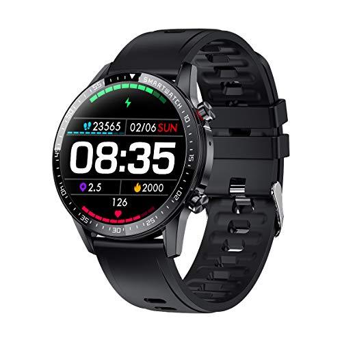 Smartwatch Herren,Phipuds Smart Armbanduhr Männer Fitness Tracker Smart Watch Rund Fitnessuhr Herren mit Pulsuhr Schrittzähler Damen Wearable IP67 Wasserdicht Sportuhr zum iOS Android
