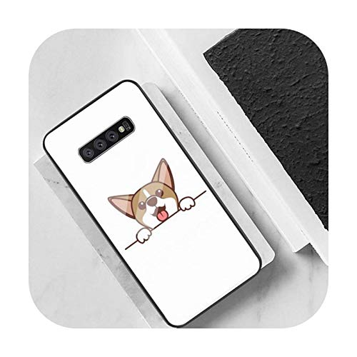 Cute Cartoon Dog Phone Case Back Cover Para Samsung Cases S20 Plus S10 NOTE 8 9 10 10PRO Vidrio Templado Suave Silicona Edge-a8-Para Samsung S20