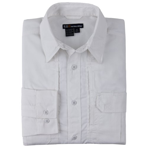 Photo of 5.11 Men's Taclite Professional Shirt, Long Sleeve-White, Small