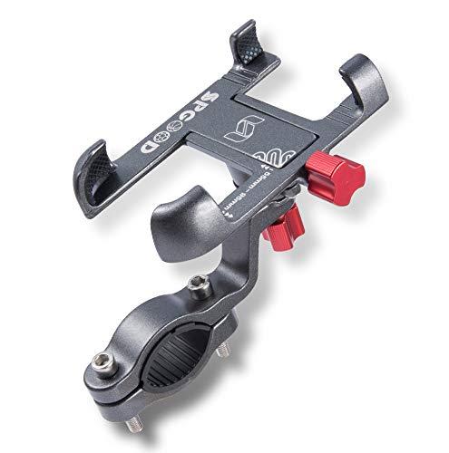SPGOOD Mobilhållare cykel 360° justerbar universal mobiltelefonhållare cyklar mobiltelefonhållare motorcykel av alla aluminiumlegering med säkerhet