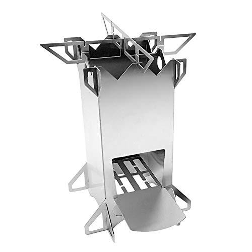 Nanna Al Aire Libre Plegable de Acero Inoxidable Burning Rocket Estufa con Mochila Estufa de Campo Carpa para Cocinar al Aire Libre Senderismo Picnic