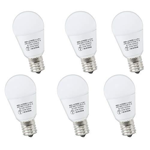 LED電球 E17口金 60W形相当 電球色 ミニクリプトン 広配光タイプ 密閉形器具対応 断熱材施工器具対応 LED 電球 e17 3000K PSE認証 省エネ90% 6個セット 人気