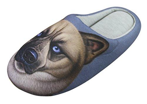 Moonlove - Zapatillas de Estar por casa para Mujer Perro, Color, Talla 38 EU