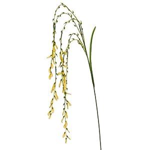 54″ Handwrapped Silk Bromeliad Flower Spray -Yellow (Pack of 12)