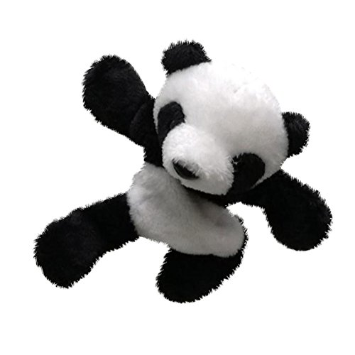 heDIANz 1 Unid Panda Imán De Nevera Pegatina De Refrigerador Lindo Regalo De Felpa Suave Decoración De Recuerdo Negro + blanco