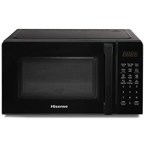 Hisense H20MOBS1HG Horno Microondas Electrónico, Capacidad 20 L, Potencia 700 W, Grill Potencia 900 W, Pantalla LED con controles táctiles, Negro