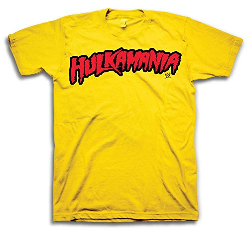 WWE Hulk Hogan Hulkamania Adult T-Shirt (Adult Medium) Yellow