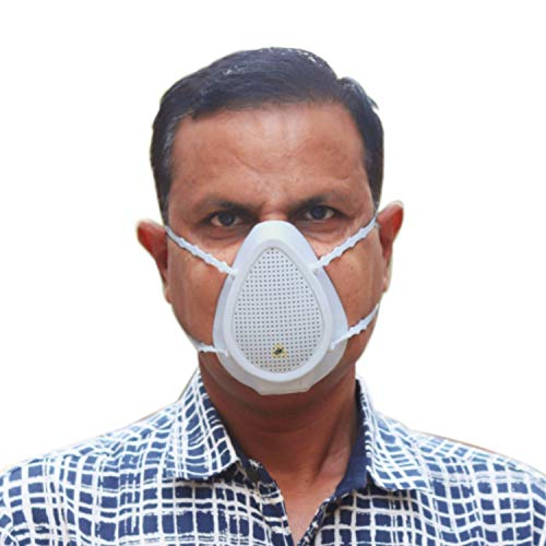 Prana Air 2nd Gen N95 Pollution Mask (Motorized)   Multi-Layers HEPA+ Carbon Filter   PM2.5 Filtration