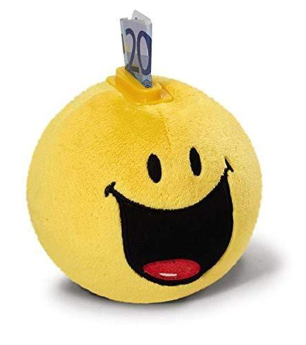 NICI 36740 - Spardose Smiley lachende Plüsch, rund