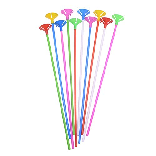 Yinyimei Balloon Stand 10/20/30Pcs White Multicolor Birthday Latex Balloon Stick and Cups PVC Rods Balloons Holder for Wedding Christmas Party Decor (Ballon Size : 30pcs, Color : Random Mix Color)