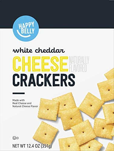 Amazon Brand Happy Belly White Cheddar Cheese Cracker 12 4 ounce product image