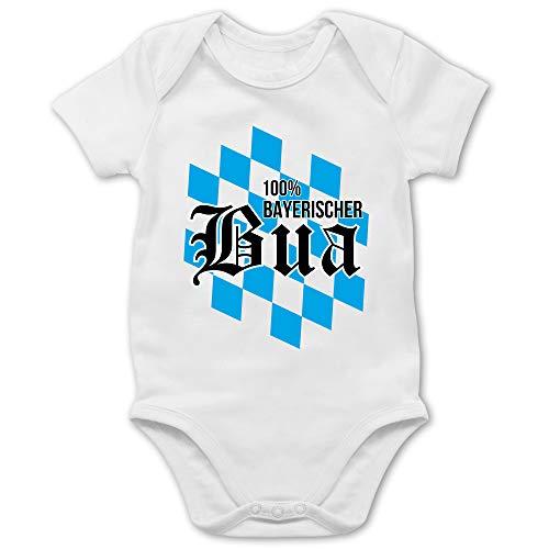 Bayern Kinder - 100% bayerischer BOU - 12/18 Monate - Weiß - Baby Shirts bayrisch - BZ10 - Baby Body Strampler