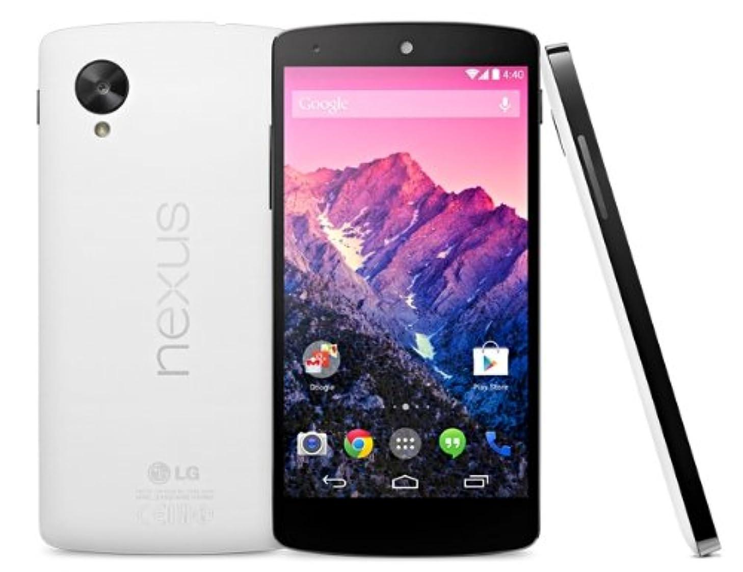 LG Google Nexus 5 D821 Factory Unlocked, 16GB, White - No 4G in USA - International Version No Warranty