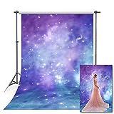 Fondos de fotografía de Galaxias Azul púrpura Cielo Estrellado Brillo Estrella bebé Fiesta de cumpleaños Fondo Estudio fotográfico fotófono Vinyl-250x180cm