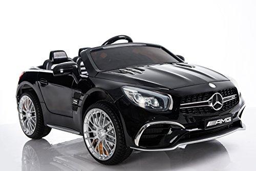RC Auto kaufen Kinderauto Bild 3: Kinderelektroauto - Mercedes SL 65 AMG - 2 Motoren - Kinderfahrzeug Lizenz Fernbedienung -Schwarz*